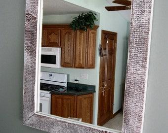 Barnwood Window Mirror White washed