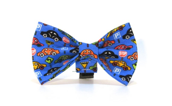 Car Dog Bow Tie,  Automobile Dog Bow Tie, Dog Bow Tie