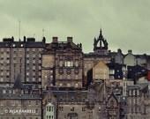 Edinburgh Print, Scotland Art, Skyline, Urban Photography, City Art, Architectural Decor, Brown, Scotland Photography - Old Town