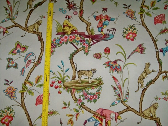 SCALAMANDRE CHINOISE EXOTIQUE Chinoiserie Toile Fabric 10