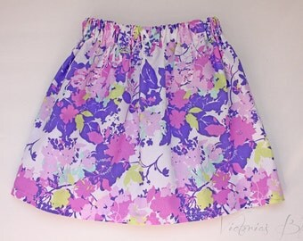 Market Circle Skirt ~Lavender/Purple Floral Custom Boutique Girls Twirl Skirt/Infant/Toddler Girls-Made to order:  Newborn to 5/6 Girls