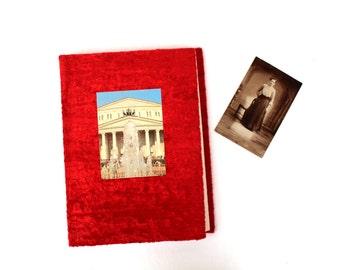 Photo album Large vintage photo album Soviet vintage photo album Vintage blank scrapbook Scrapbooking album Vintage guestbook Red