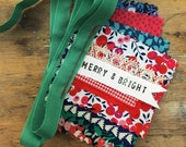 Liberty fabric Christmas garland with secret message 'MERRY & BRIGHT' | party garland | traditional Christmas | Christmas Liberty bunting