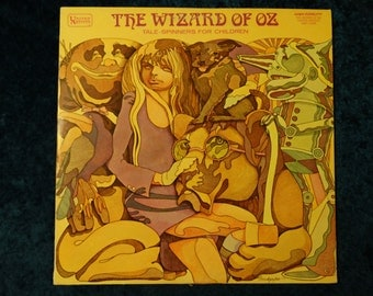Vintage Wizard of Oz Tale Spinners for Kids Vinyl Record Album Scarecrow With Toto Lion Dorothy Tin Man