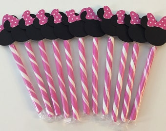 Minnie Mouse theme - bow  Candy Sticks