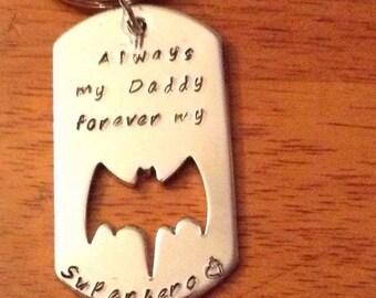 Batman customized fathers day keychain