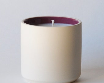 Whiskey + Fig - Soy Wax Candle in Reusable Ceramic Container