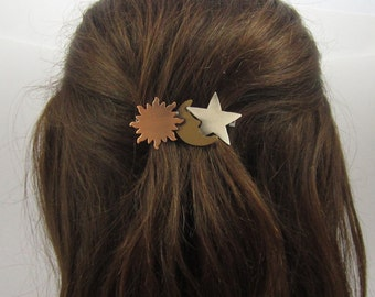 CELESTIAL French Barrette 60mm- Celestial Jewelry- Hair Barrette- French Clip