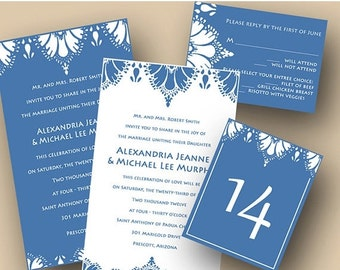 Lowest Price of the Year Ashley's Damask Wedding Invitation (Sample ONLY)