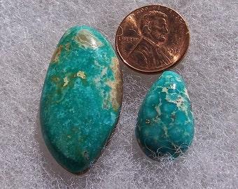 Middle Eastern turquoise gemstones pair
