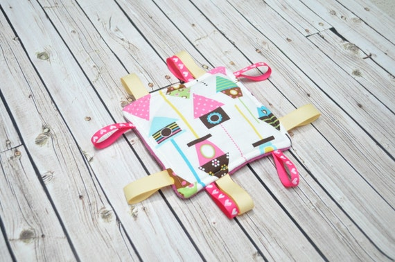 Crinkle Toy - Sensory Toy - Baby Toy - New Baby Toy - Baby Shower Gift - Ribbon Toy - Tag Toy - Baby Girl Toy