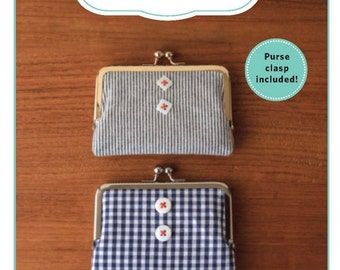 PATTERN:  Vintage Clasp Wallet - ZW2187 - Clasp Included - Wallet