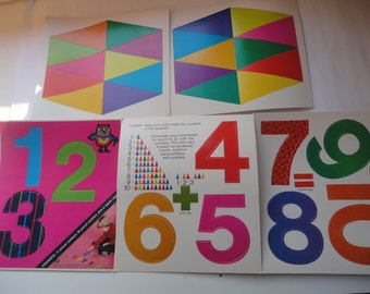 Vintage Unused Precut Numbers 11 Precut Numbers 20 Precut Counters Western Publishing Co 1977 Made in USA Numbers Learn to Count