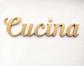 Cucina Letters Kitchen Decor