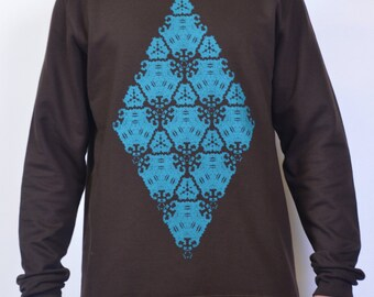 SALE Sweatshirt - Ancient Technology Brown & Teal