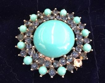 Blue Stones Vintage Pin