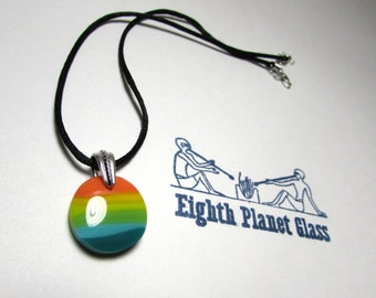 Rainbow Bubble - Glass Necklace Pendant