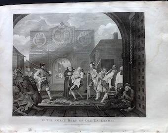 Hogarth & Cook 1812 LG Folio Print. O the Roast Beef of Old England