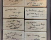 Retired Stampin'Up wood mounted stamp set Curvy Verses