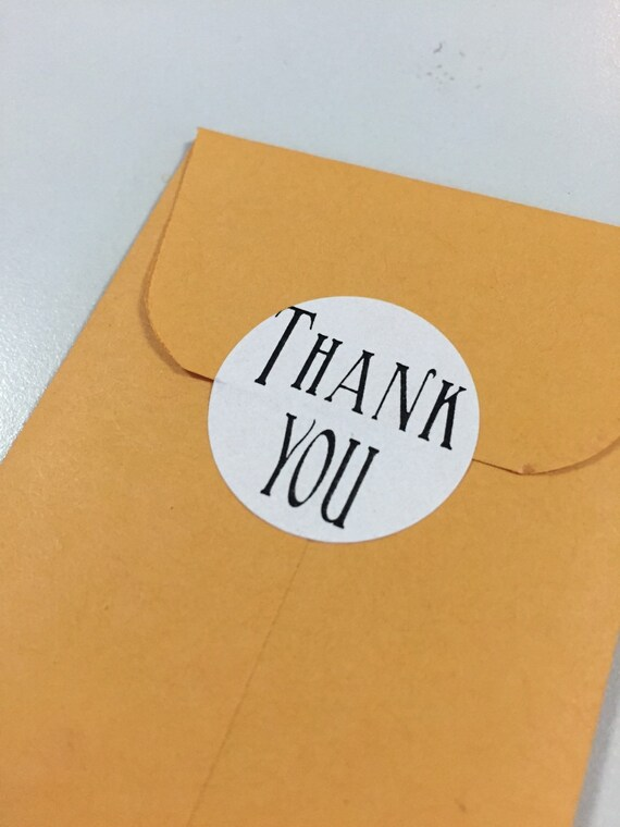 Thank You Stickers (24) - FREE SHIPPING!