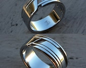 """01 """"EXCLUSIVE"""" handmade stainless steel ring (not casted)"""