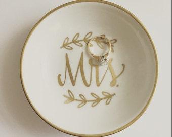 mrs ring dish jewelry dish trinket dish wedding ring dish