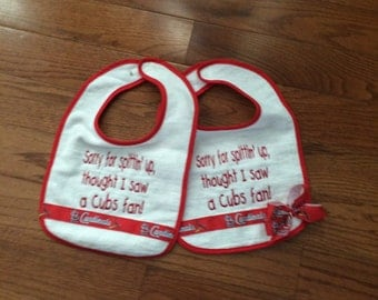St Louis Cardinal Bibs