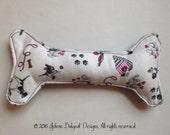 Boutique Squeak Dog Toy - Good Dog Bad Dog Fabric