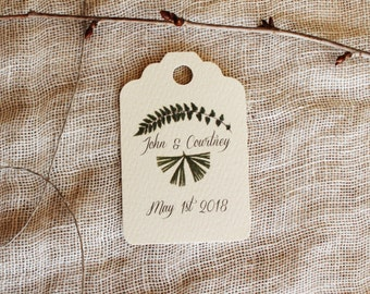Favor Tags Botanical Ferns Wedding Shower Party Favor Tags