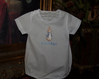 Personalized Peter Rabbit Classic Cotton Baby Romper For  Easter