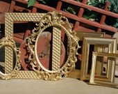 Set Of 6 Shabby Chic Picture Frames - Ornate Frames -  Collection Of Upcyled Frames