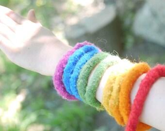 Wool rainbow rope, waldorf rope,