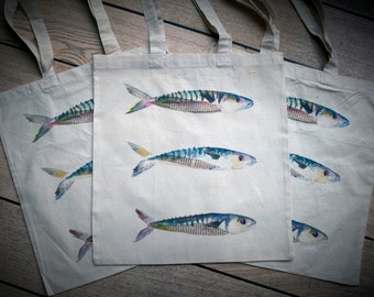 Mackerel Tote Bag