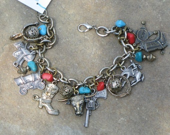 OOAK Artisan Eco-Friendly Upcycled Southwestern Charm Bracelet
