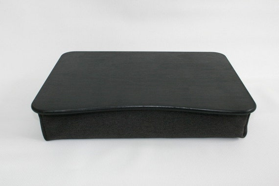 Wooden Laptop Bed Tray Black Pillow Tray iPad by WoodPower