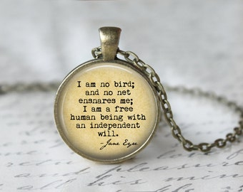 Jane Eyre Book Necklace - Jane Eyre Quote - Charlotte Bonte's Jane Eyre - Charlotte Bronte - Jane Eyre Book - Jane Eyre Necklace L14