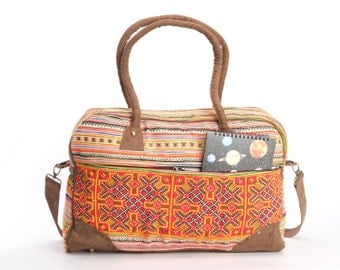 Weekender bag, Overnight bag, Carry-on Luggage, Duffle bag Lightweight Travel bag Gypsy, Boho, Hippie, Ethnic, Tribal Style
