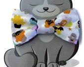Halloween Bow Tie for Cat, Dog Bow Tie, Collar Accessory, Pet Wardrobe, Made in Canada, Slip On Collar Accessory, Ghosts, Pumpkins, Skulls
