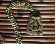 Vintage Tiki Necklace ~ Hilinaehu, CocoJoe's