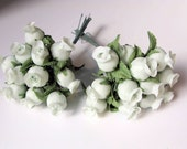 Miniature Roses Satin Flowers Rosebuds Small Artificial Flowers Tiny Rose Buds