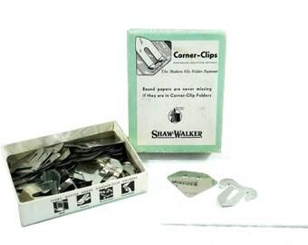 Vintage Shaw-Walker Corner-Clips Paper Clips