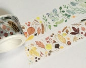 1 Roll of Limited Edition Edition Washi tape- Plants Illustrations