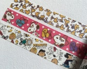 3 Rolls of  Limited Edition Washi Tape- Snoopy and Friends