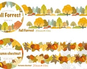 1 Roll Limited Edition Washi Tape (Pick 1) : Fall Forrest Or Autumn Chestnut