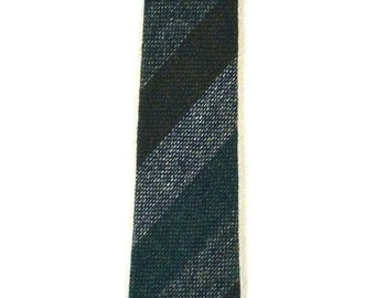Thin Millars Irish Connemara Tweed Striped Tie Vintage