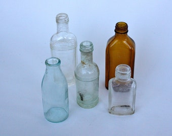 Mix of Italian pharmaceutical bottles