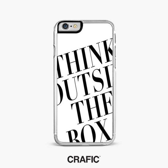 iPhone 7 Case, iPhone 7 Plus Case, Think Out Side the Box Cell phone cover