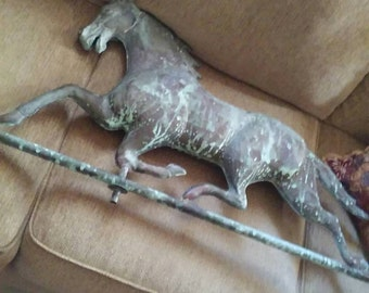 Late 1800-Early 1900's Running Horse Antique Weathervane ECS