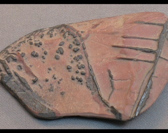 Death Valley Indian Paint rock  cabochon 66 mm x 40 mm x 10 mm thick at 29 grams