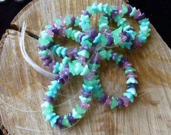 Czech flower beads